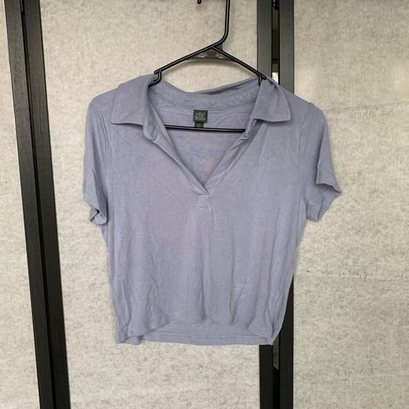 Tops - Lavender crop top